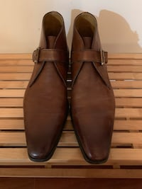 Pair of brown leather slip on shoes,Size 11.5 Woodbridge, 22193