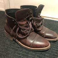 Thursday Captain brown leather boots Toronto, M5C 1C4
