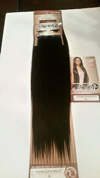 Black- 18 inches hair extensions