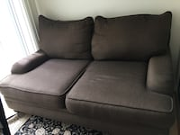 Brown fabric 2-seat sofa Mississauga, L5B 3Y9