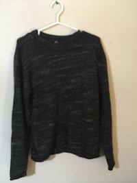 black and gray space-dyed scoop-neck sweatshirt Pelham, L0S