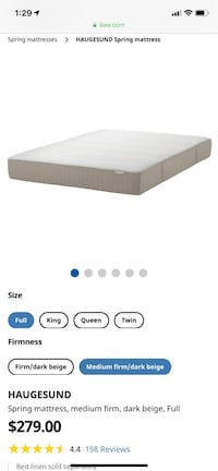 Double ikea mattress  Edmonton, T6J 4E2