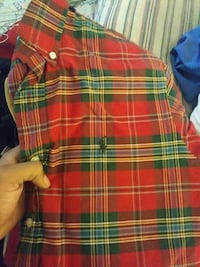 red and green checked Polo Ralph Lauren collared s
