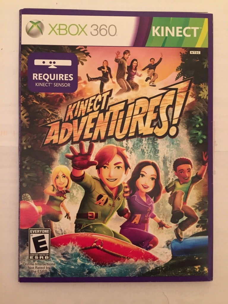Xbox 360 Kinect Adventures game case for sale  Monroe