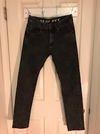 Jeans By H&M Black Size 30 Slim Fit 3752 km
