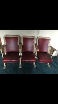 Metal & wood Leather Folding chairs  Chester, 19013