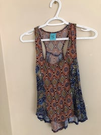women's brown and blue sleeveless dress Vancouver, V5K 2X4