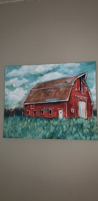 Picture of barn on canvas Mobile, 36695