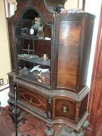 brown wooden hutch cabinet New York, 10033