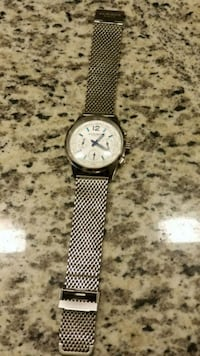 round silver-colored chronograph watch with link bracelet Lewisville, 75056