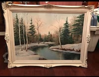 Signed oil painting on board  Toronto, M2R 3N1