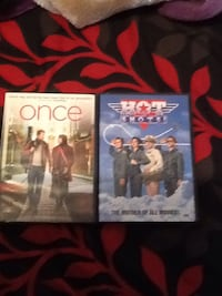 2 DVDs once and hot shots movies $30 bucks cash brand new never used them pick up only  Los Angeles, 91325