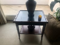 black wooden side table with drawer Newport Beach, 92660