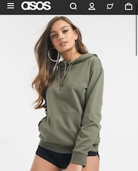 Olive Green Oversized Hoodie