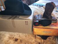 Cowboy boots new and hat Bethany, 73008