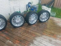 "Selling  four 20"" chrome"