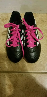 pair of black-and-pink Adidas cleats Olney, 20832