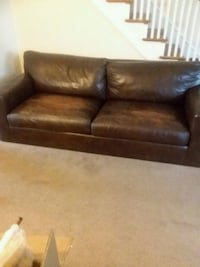 brown couch, no legs