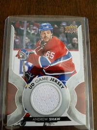 Upper Deck Andrew Shaw trading card Prévost, J0R