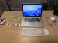 MacBook Pro (15 inch, Late 2011) with lots of accessories