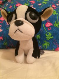 White and black dog plush toy Lyons, 67554