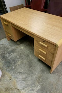 Double Pedestal Straight desk