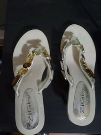 Cream and multi-Brown with diamonds size:-6   Newmarket, L3X