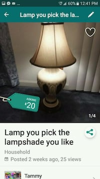brown wooden base table lamp with white lampshade 728 mi