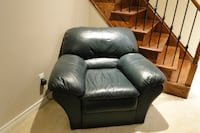 **Reduced Price! Dark Green Leather Sofa & Chair Set** TORONTO