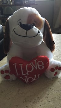 brown and white dog plush toy Wallingford, 06492