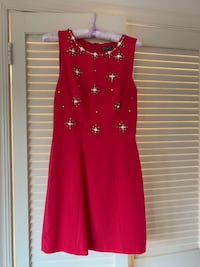 Women's red sleeveless dress Washington, 20007