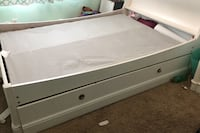 Trundle white full size bed with dresser and nightstand Maple Grove, 55369