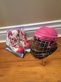 Kids skates (Size 4) and helmet Vaughan, L6A 3Y5