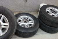 Ford 6 lug rims and tires all 4. 17 inch rims Clovis, 93612