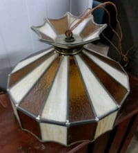 Vintage Stained Glass Hanging Light Lehighton, 18235