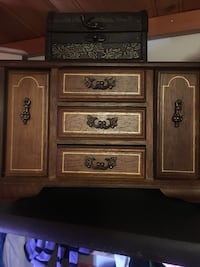 brown wooden 3-drawer chest Calgary, T2Y 2T4