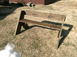 Farmhouse style weathered indoor/outdoor  bench*Read Discription*