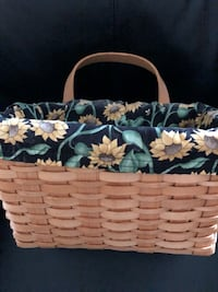 Basket with removable sunflower liner.  11 X 7 X 5 Germantown, 20874