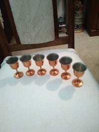 Copper 6 PC cordial glasses  $20.00 obo Bensenville, 60106