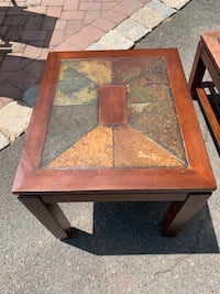 Center and side table stonetop