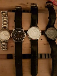 four round silver chronograph watches Waterloo, N2T 1R8