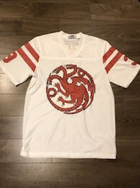 Game of Thrones Targaryen Football Jersey size Medium