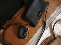 black leather crossbody bag and coin purse Akron, 44303