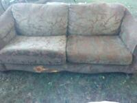 gray and white floral 2-seat sofa Warsaw, 46580