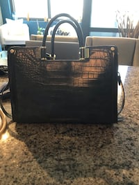 Grey alligator leather laptop bag with many pockets Chicago, 60607