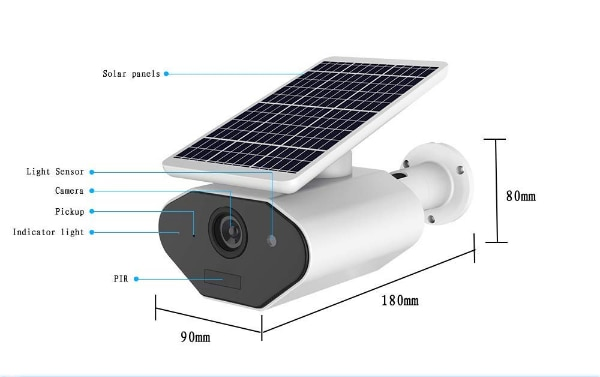 New Outdoor Solar Powered Security Camera Solar WiFi Low Power Battery  Camera 960P IP66 Waterproof Outdoor Wireless Security Camera,Night