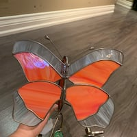 Stained glass decorative butterfly and flower Richmond Hill, L4E 2V3