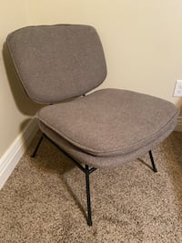 Fletcher Slipper Chair with Black Metal Legs Light Gray - Project 62™ Orem, 84058