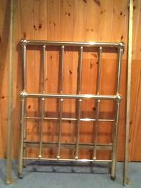 Antique brass single bed (headboard, footboard and side rails) Mono