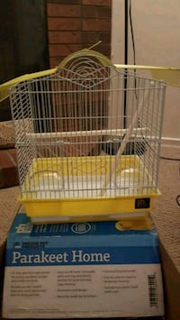 Brand new white and yellow metal birdcage Markham, L3S 1N1